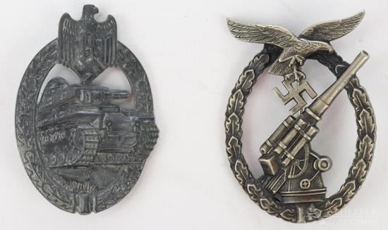 Pair of German WWII Badges