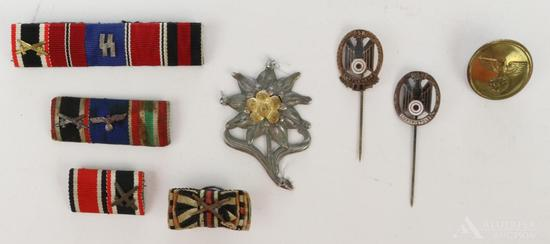 German WWII Insignia, Ribbon Bars and Pins