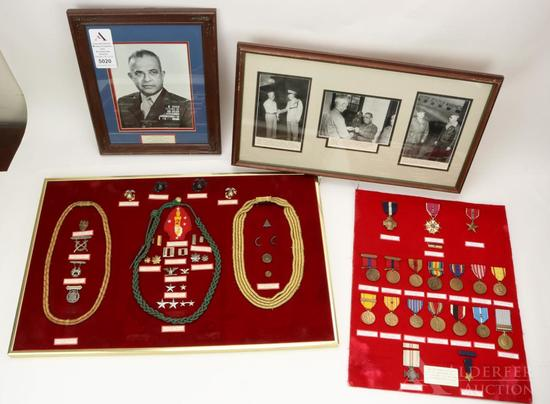 Historical Medal, Insignia and Photograph Group of US Marine Corps General Gregon A. Williams