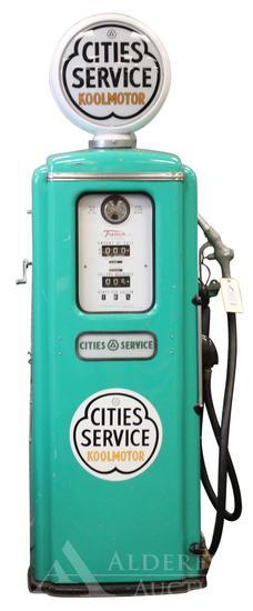 Tokheim 39 Gas Pump Restored in Cities Service Koolmotor Gasoline