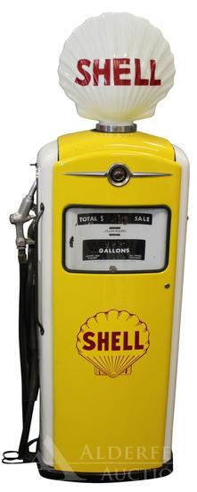 Bennett 966 Gas Pump Restored in Shell Gasoline