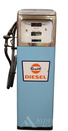 Gulf Diesel Gasoline in Gas Pump