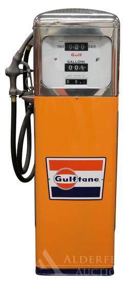 Erie 129-22 Gas Pump Restored in Gulftane Gasoline