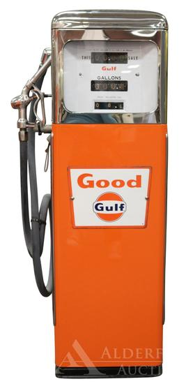 Erie 158 Gas Pump Restored in Good Gulf Gasoline