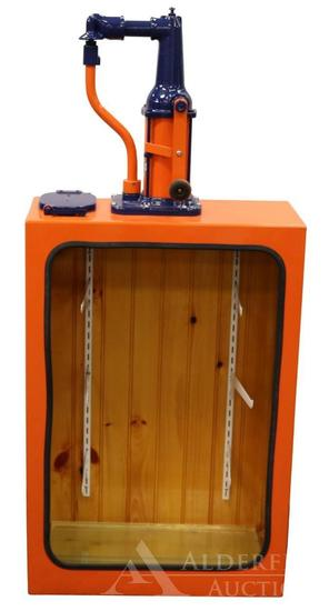 Gulf Oil Hand Crank Station Lubester Restored into a Display Case