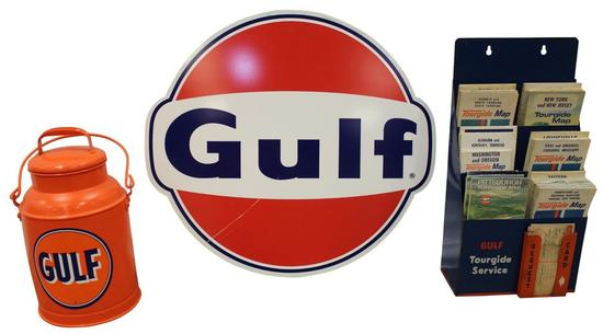 Gulf Gasoline Service Station Display Items