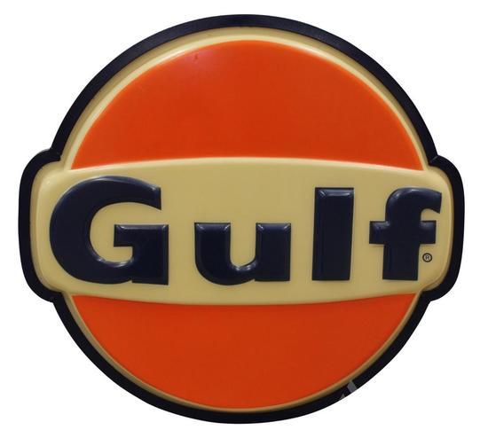 Gulf Gasoline Service Station Sign