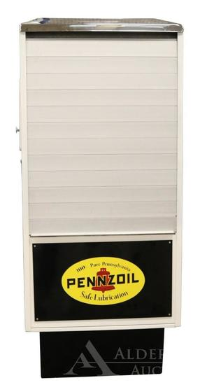 Sel-Oil Display Service Cabinet Restored in Pennzoil