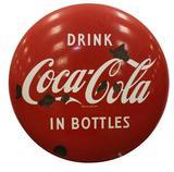 Reproduction Coca- Cola Tin Button Sign