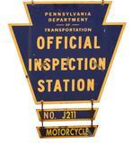PA Dept. of Transportation Inspection Sign