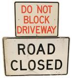 Do Not Block & Road Closure Signs