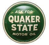 Quaker State Motor Oil Button Sign