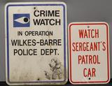 Crime Watch & Patrol Car Signs