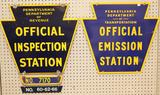 Pennsylvania Inspection Station and Official Emission Station Signs