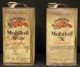One Gallon Gargoyle Motoroil Cans