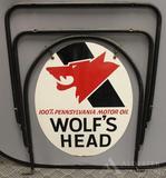 Wolfs Head Motor Oil Sign