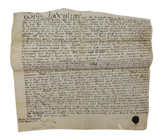 Germantown Pennsylvania Indenture-Christopher Witt-1728