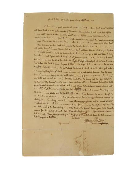 Historic Revolutionary War Letter-Battle of Germantown