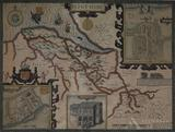 Map of Flintshire, England by John Speed--1612