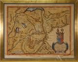 Map of Central Europe by Pierre Du Val--17th Century