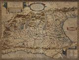 Map of Northern Italy by Abraham Ortelius--1608