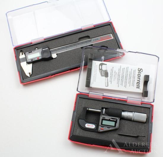 Starret digital micrometer and digital caliper