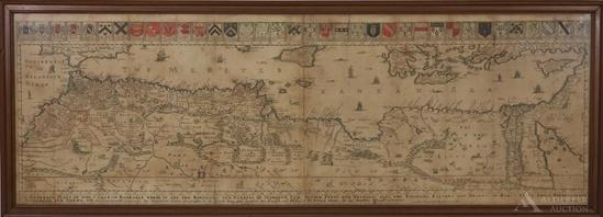 Map of Northern Africa by Richard Blome--1667