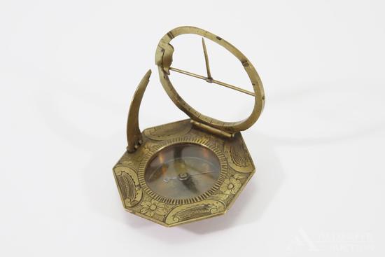Brass Equinoctial Compass Sundial