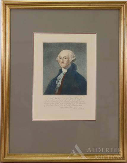 Portrait of George Washington-Cribb