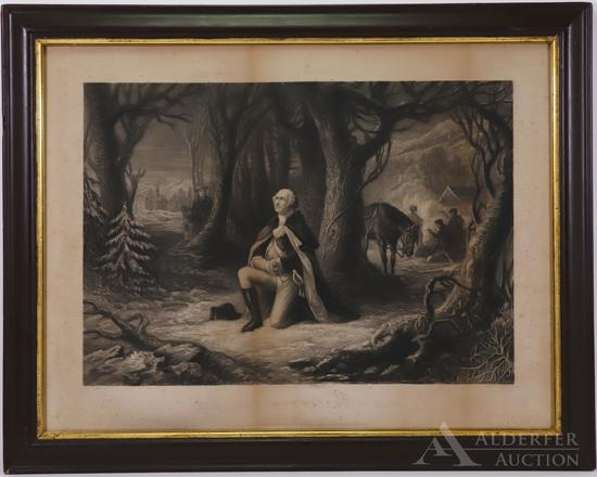 Portrait of George Washington In Prayer At Valley Forge-McRae