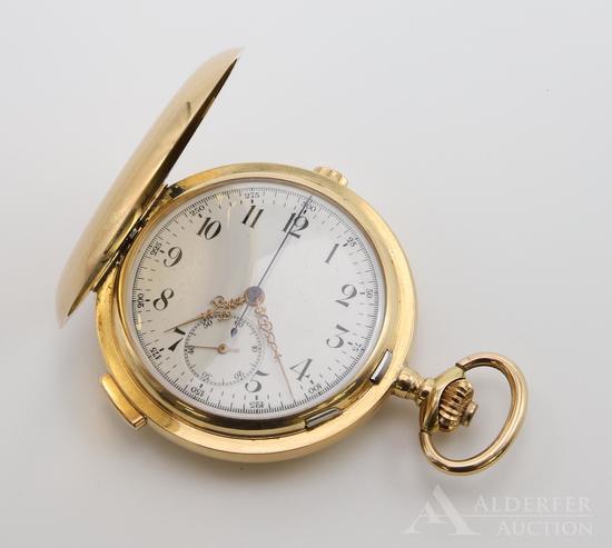 14K Quarter Repeater Chronograph Pocket Watch