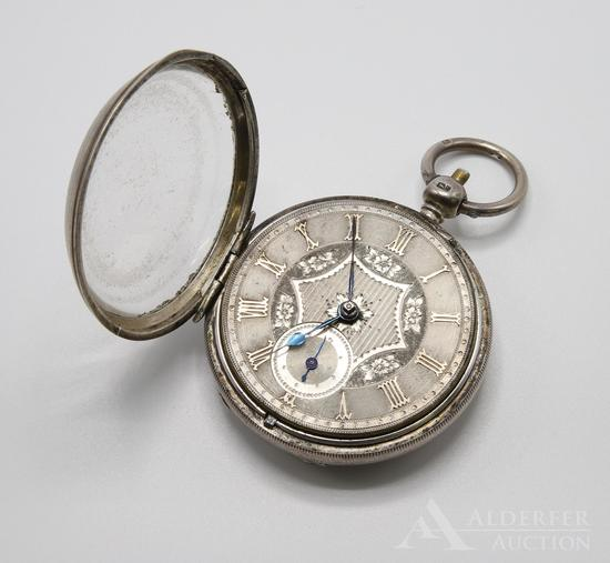 Fusee Sterling Silver Case Pocket Watch