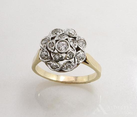 14KY and White Gold Diamond Ring