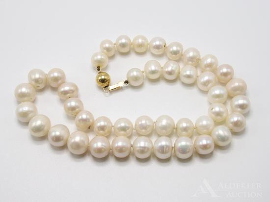 14KY Gold Pearl Necklace