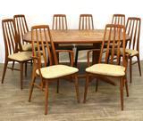 Koefoeds Hornslet Danish Teakwood Dining Suite