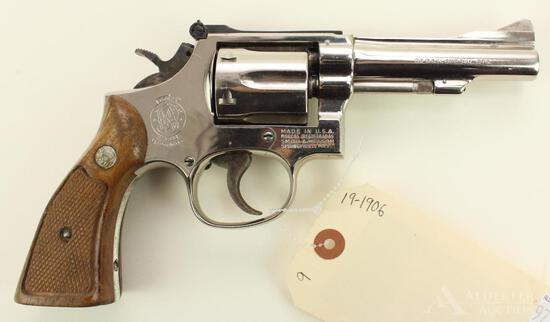 Smith & Wesson 15-3 double action revolver.