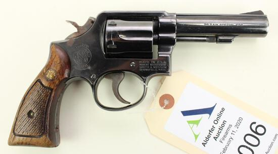 Smith & Wesson 10-6 double action revolver.