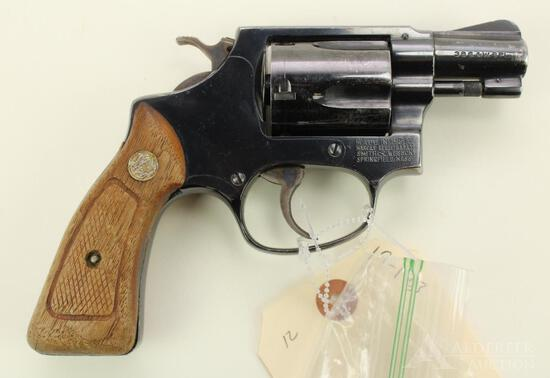 Smith & Wesson 36 Chief's Special double action revolver.