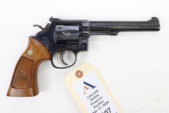 Smith & Wesson 17-4 double action revolver.