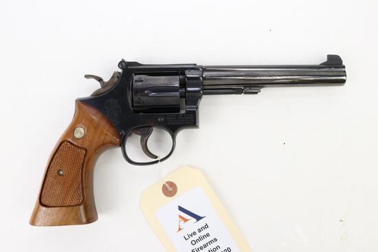 Smith & Wesson 14-3 single action revolver.