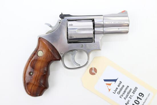 Smith & Wesson 686 double action revolver.