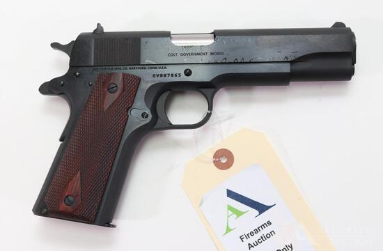 Colt 1911 Government Model National Match Series 70 Semi-Automatic Pistol.