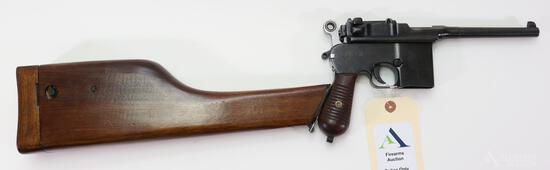 Chinese C96 Broom Handle w/ Shoulder Stock/Holster Semi-Automatic Pistol.
