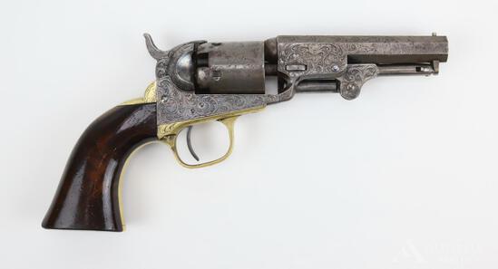 Factory Engraved Colt Model 1849 Pocket Revolver
