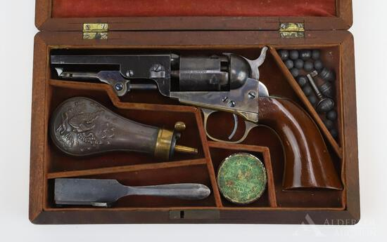 Cased Colt Model 1849 Pocket Revolver with Accoutrements