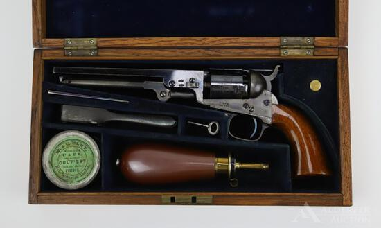 Cased Colt (London) Model 1849 Pocket Revolver with Accoutrements