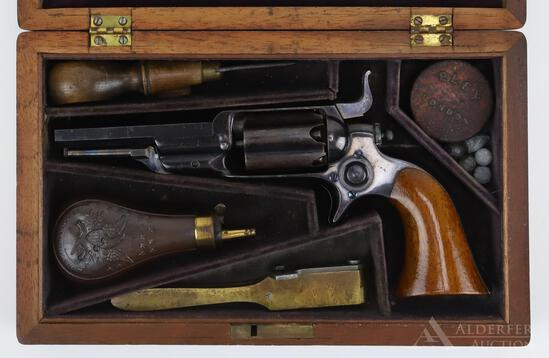 Cased Colt Model 1855 'Root' Pocket Revolver Model 3a with Accoutrements