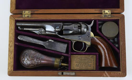 Cased Colt Model 1862 Police Revolver with Accoutrements