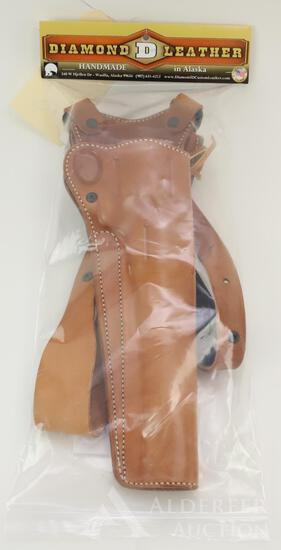 Diamond leather holster for Ruger Super Redhawk.