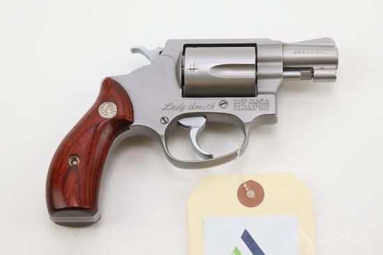 Smith & Wesson 60-3 Lady Smith double action revolver.